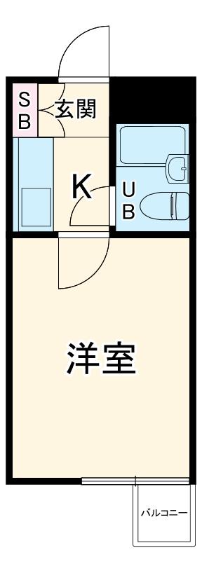 クリオ毛呂山壱番館・210号室の間取り