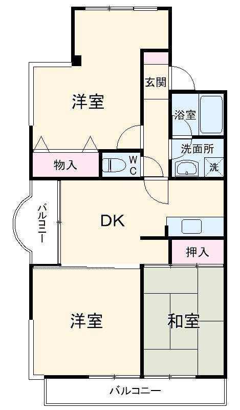 セントラルマンション・101号室の間取り