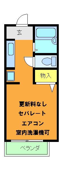 ハイツKOUNAN・210号室の間取り