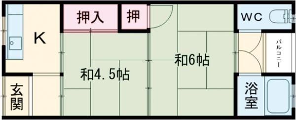 ニュー信太山ハウス1棟・12号室の間取り