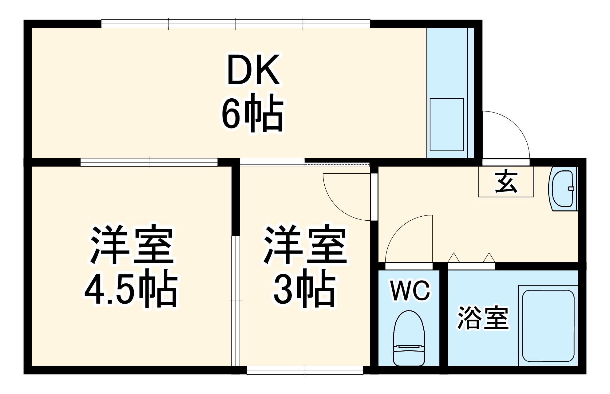 山崎邸 貸家・2号室の間取り