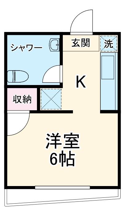 桐山マンション・301号室の間取り