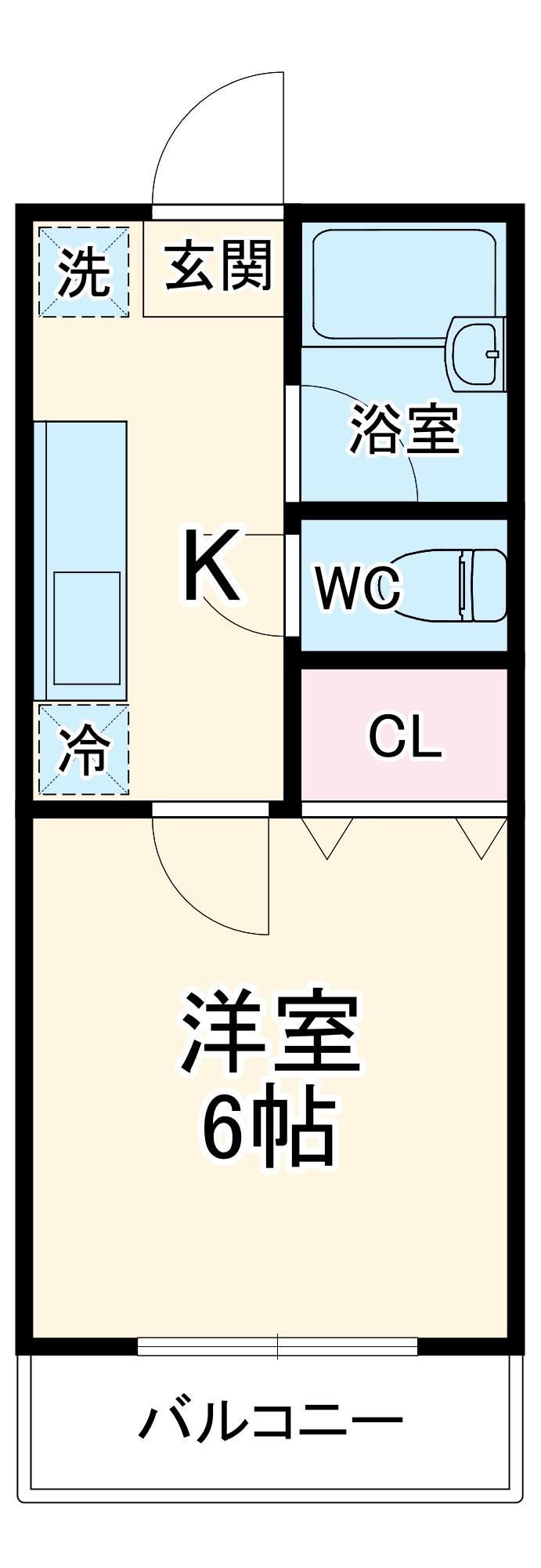 アーバンフラット桜田A・B・B102号室の間取り