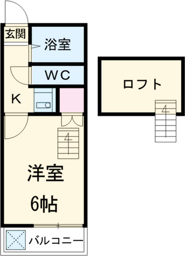 エクセレンス西川田・105号室の間取り