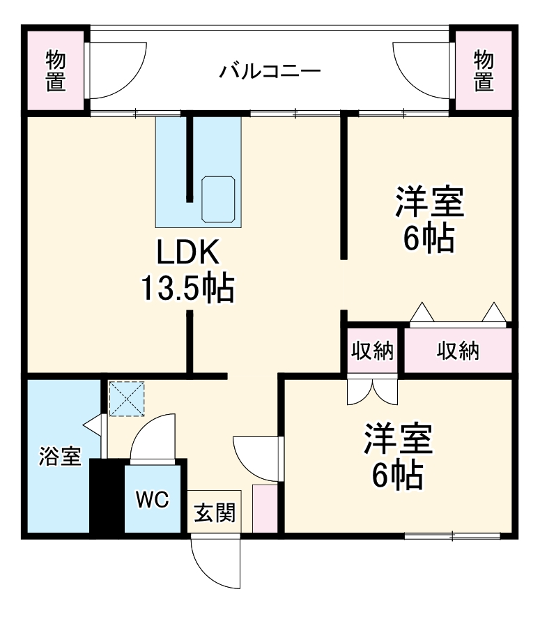 島田東団地C棟・201号室の間取り