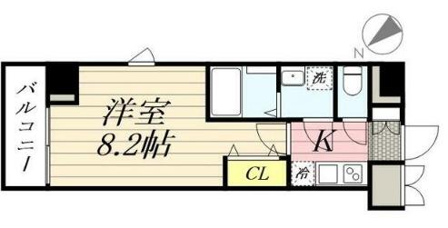 GRANPASEO田端 A・202号室の間取り