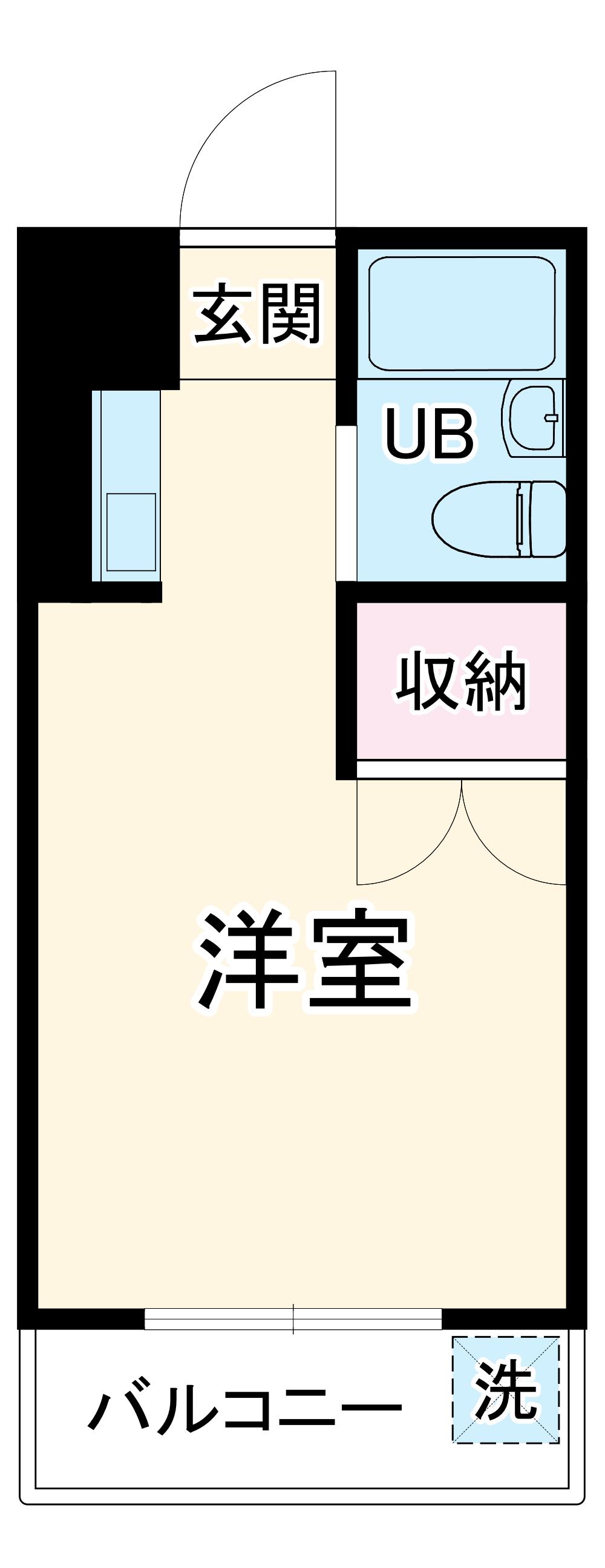 グリーンハウス湘南 302号室の間取り