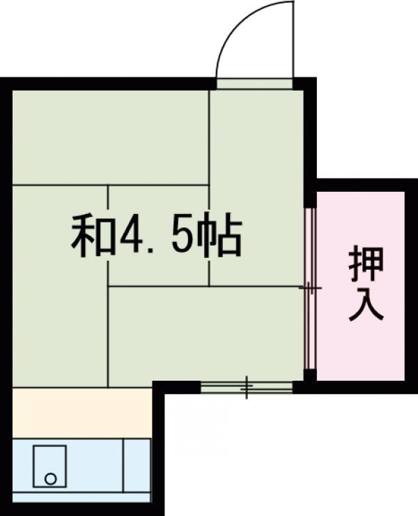 第一日東荘・5号室の間取り