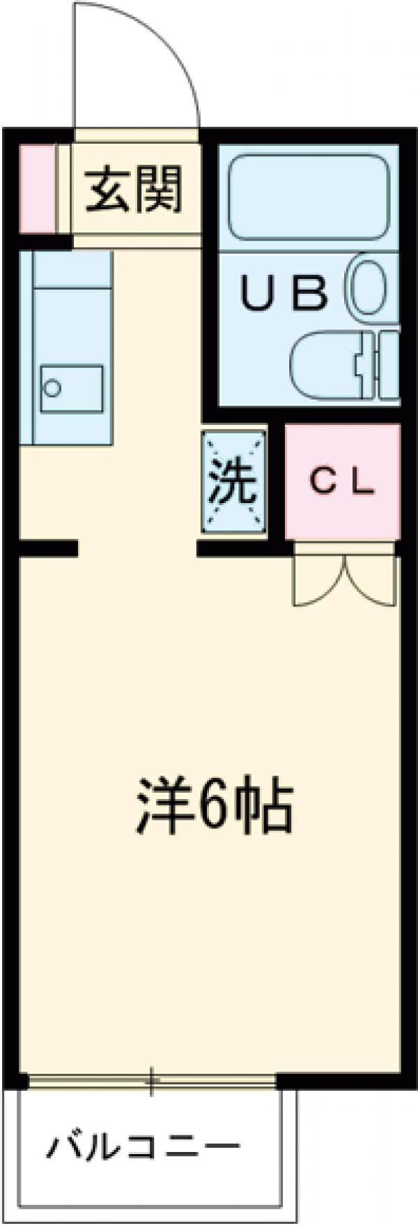 ルベール東小金井・101号室の間取り