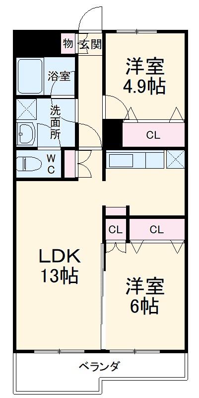 パラシオン栄昇・B204号室の間取り