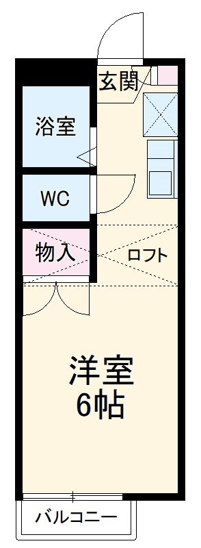 サニーテラス富貴ノ台Ⅱ・103号室の間取り