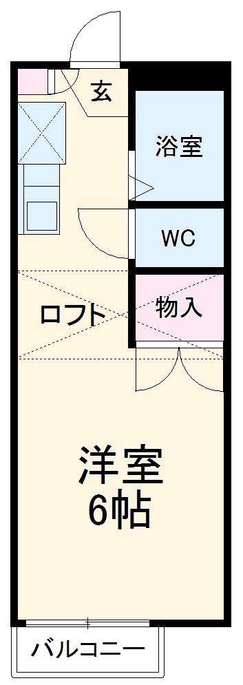 サニーテラス富貴ノ台Ⅱ・202号室の間取り