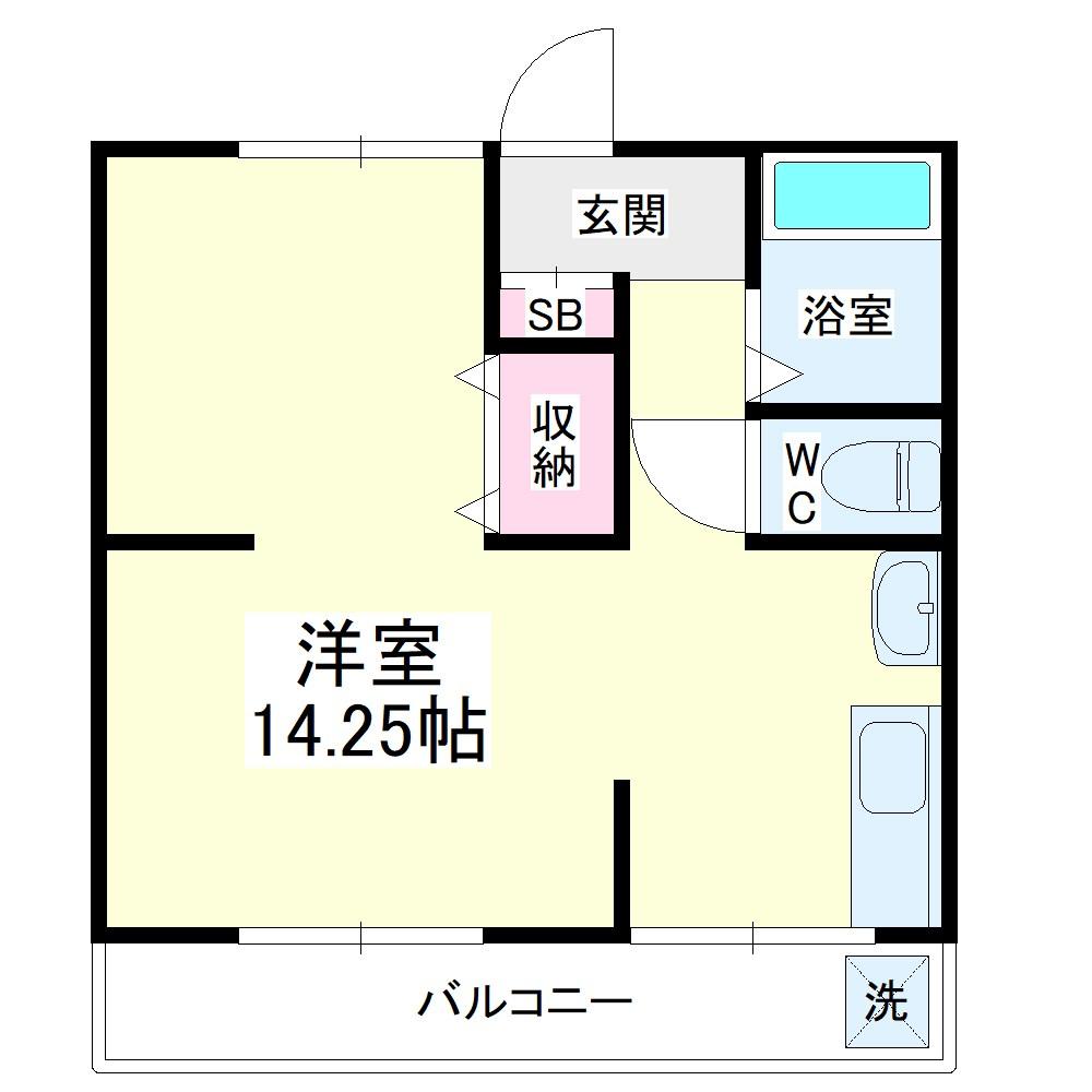 コーポ宏東B・202号室の間取り