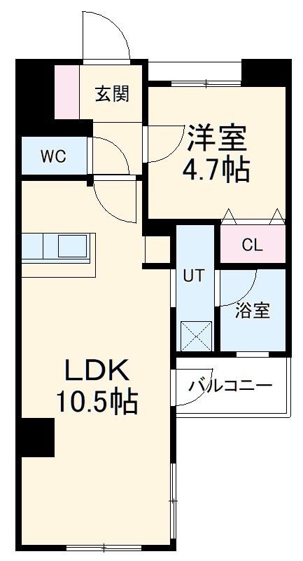 スパシエルクス横浜・902号室の間取り