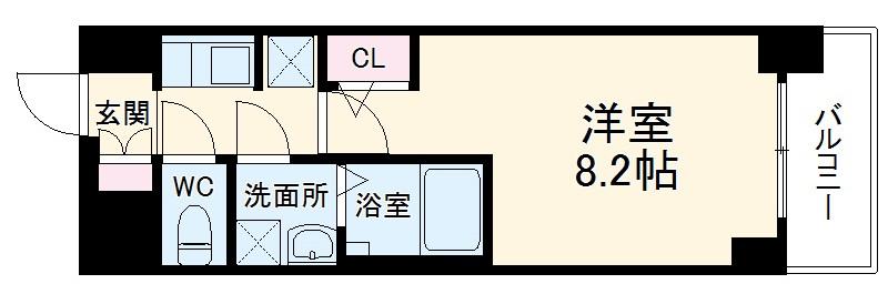S-RESIDENCE熱田・303号室の間取り