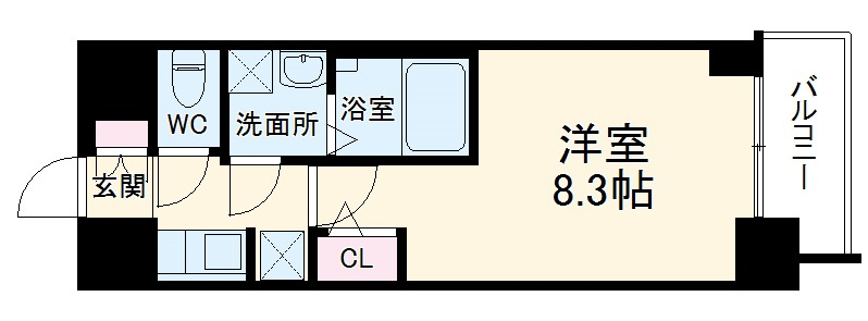 S-RESIDENCE熱田・304号室の間取り