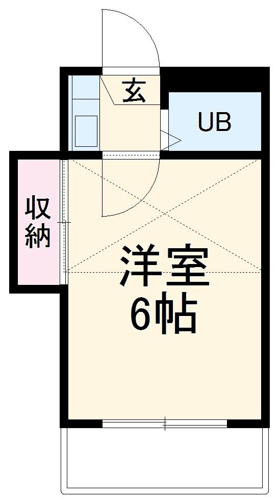 グレース横須賀・205号室の間取り
