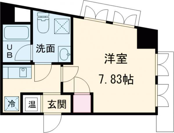 桃園パークマンション・107号室の間取り