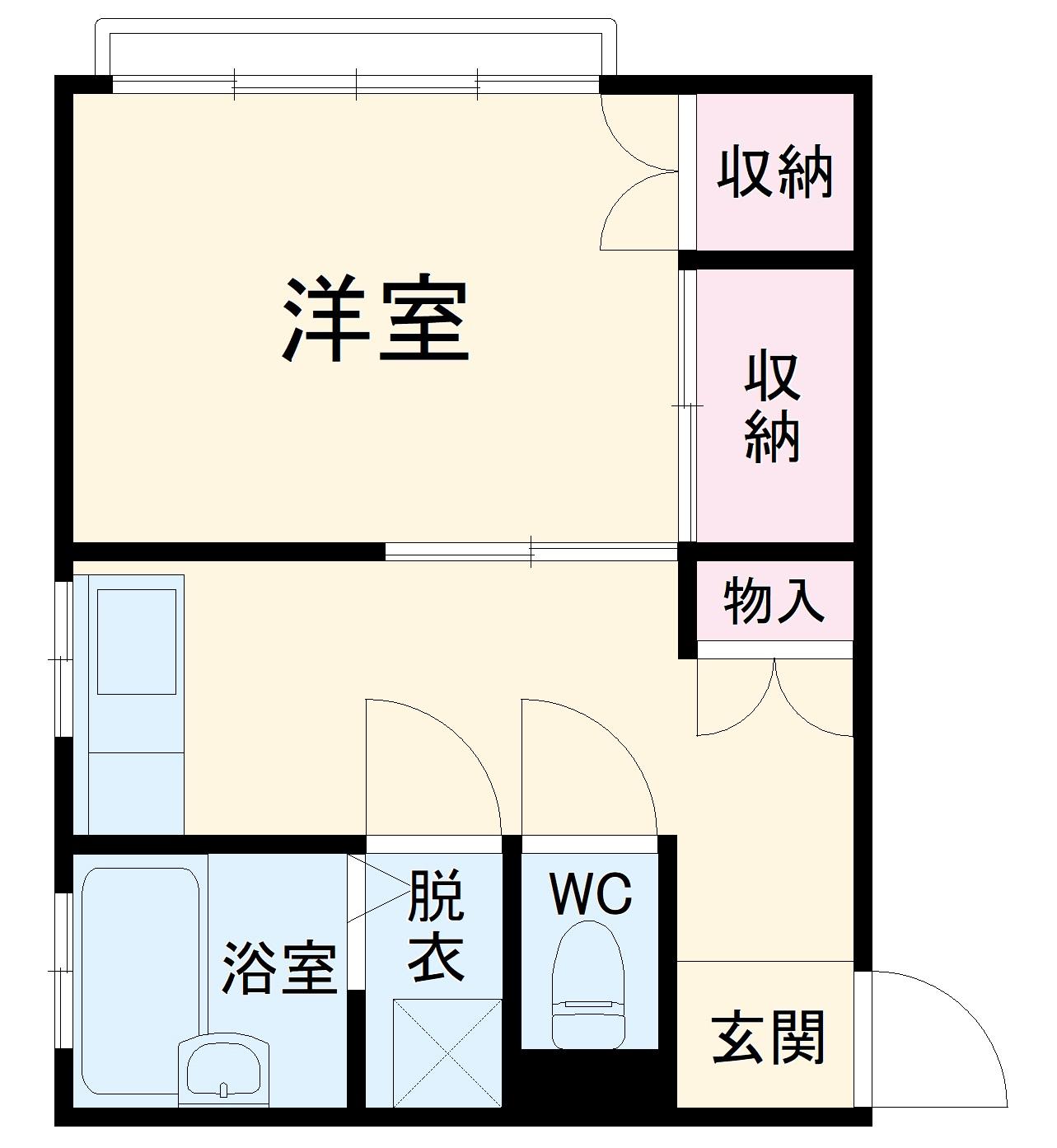 五条駅前萩尾ビル・301号室の間取り