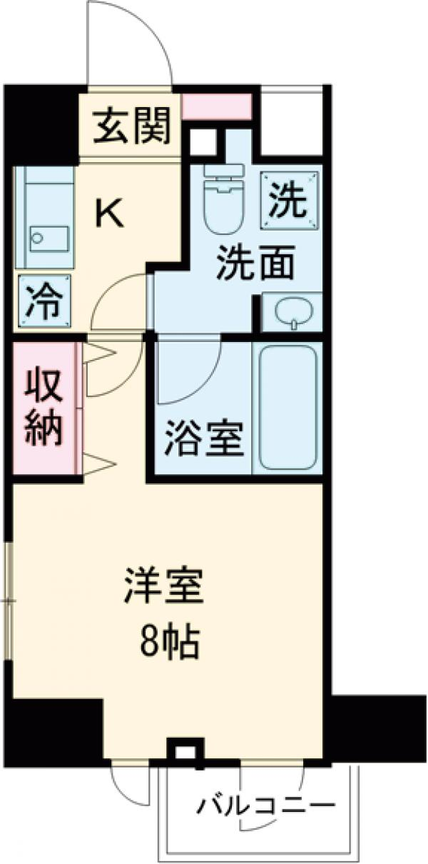 DeLCCS  IKEBUKURO・601号室の間取り