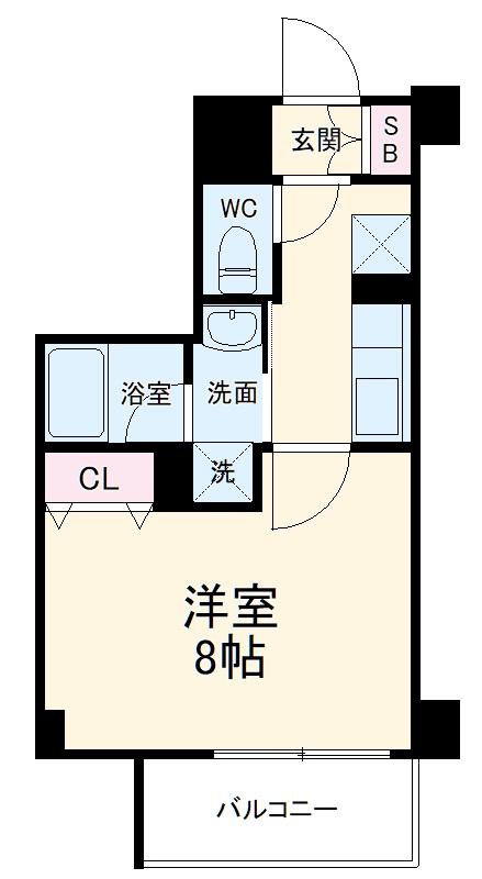 ベラジオ京都西院ウエストシティⅢ・304号室の間取り
