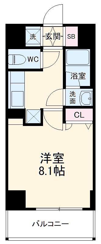 ベラジオ京都西院ウエストシティⅢ・208号室の間取り