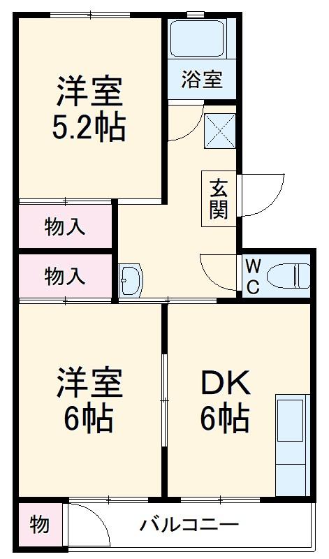 栄昇ハイツ・102号室の間取り