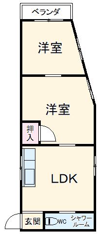 遠山アパートA・205号室の間取り