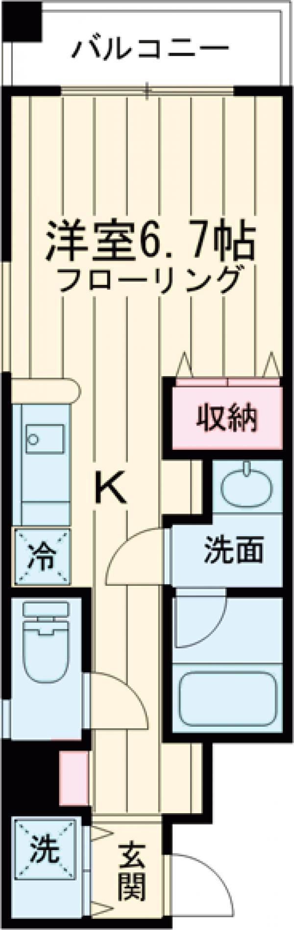 オールイン駒沢・2F号室の間取り