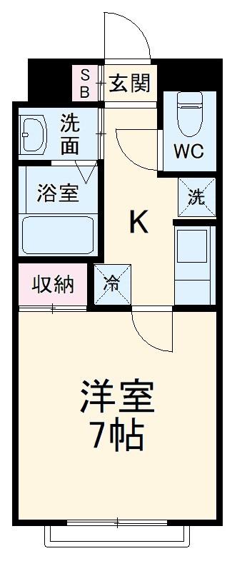 アムール山崎・105号室の間取り