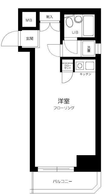 マートルコート中目黒第2・1005号室の間取り