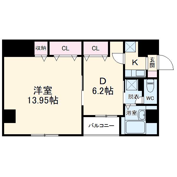アルカンシェル新横浜・202号室の間取り