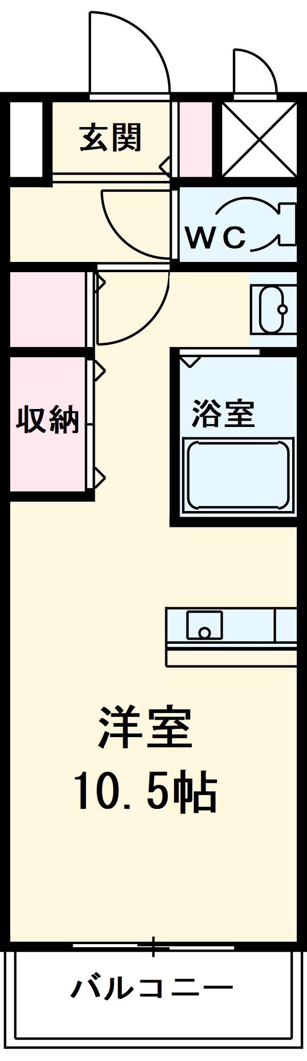 エルミタージュ名駅西・701号室の間取り