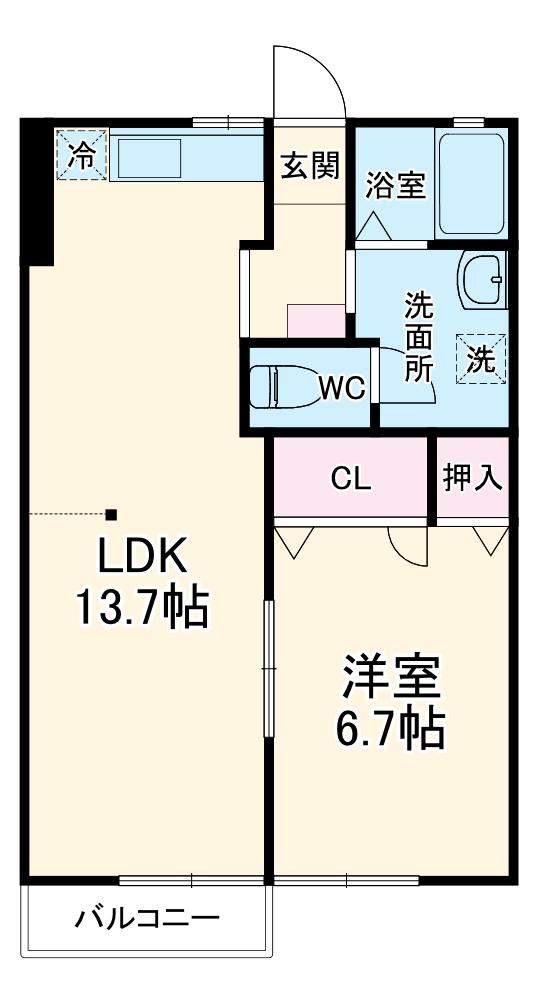 ルミネンス湘南桂台S・101号室の間取り