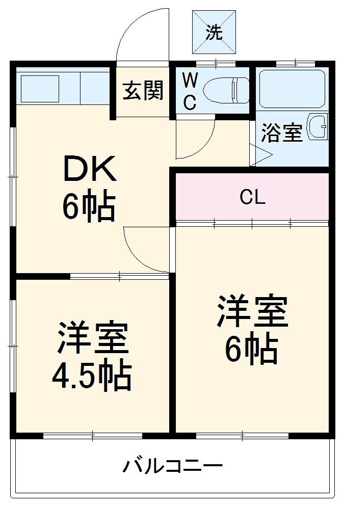 ハイツ志村第2・203号室の間取り