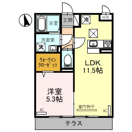 (仮)D-room三橋・102号室の間取り