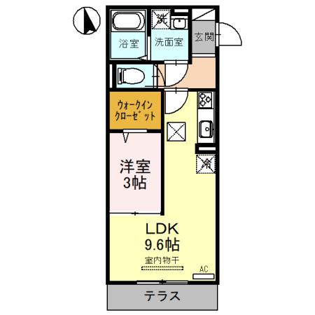 (仮)D-room三橋・105号室の間取り