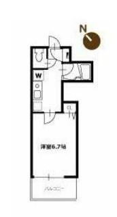エルスタンザ中野新井・305号室の間取り