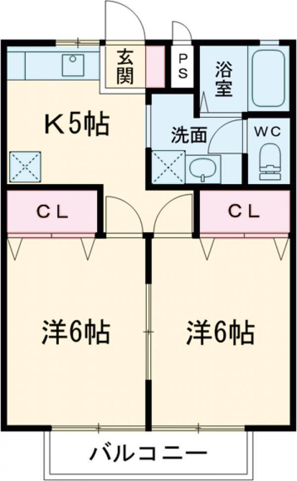 メゾンFuji・102号室の間取り