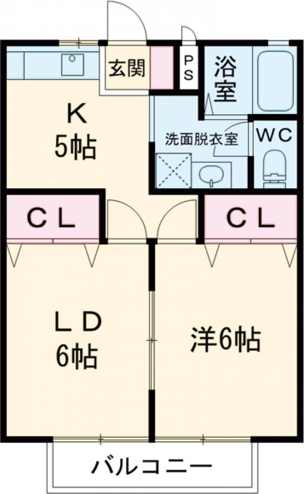 メゾンFuji・105号室の間取り