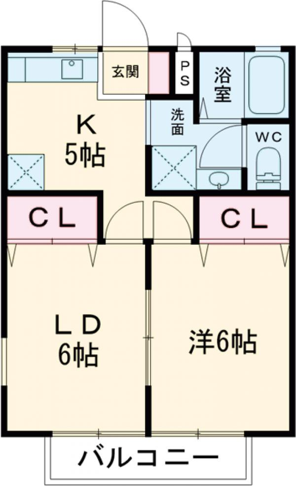 メゾンFuji・106号室の間取り