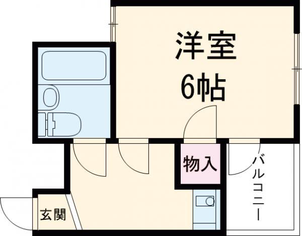 アンフィニィ京口・205号室の間取り