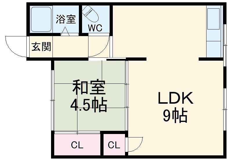 和美荘1棟・203号室の間取り