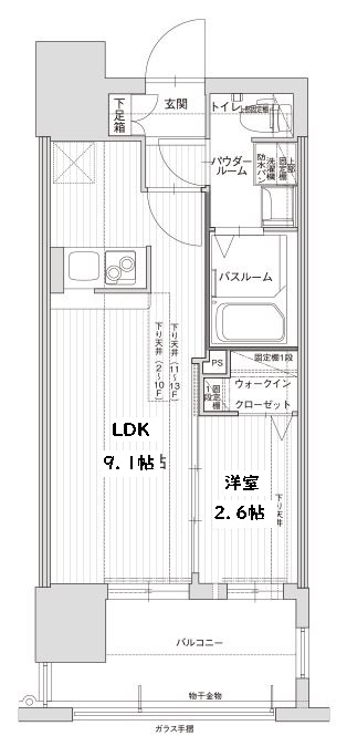 グランフォーレ博多駅東プレミア・1003号室の間取り