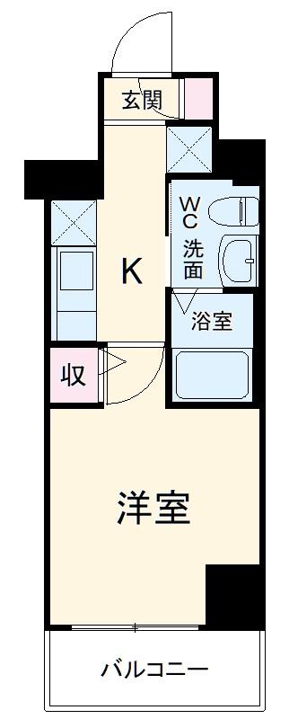 リヴシティ横浜宮元町・703号室の間取り