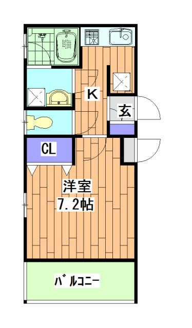 ベラジオ京都西院ウエストシティ・201号室の間取り