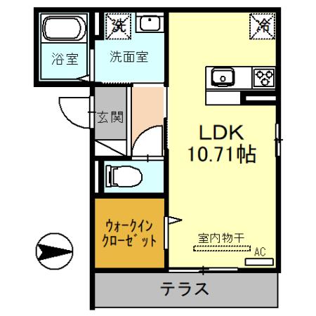 (仮)D-room戸田市新曽・103号室の間取り