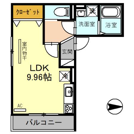 (仮)D-room戸田市新曽・201号室の間取り