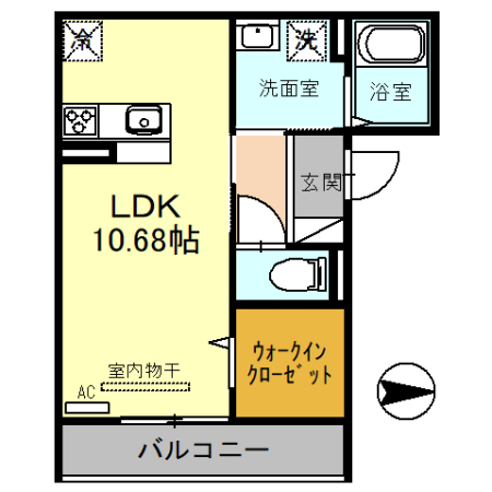(仮)D-room戸田市新曽・202号室の間取り