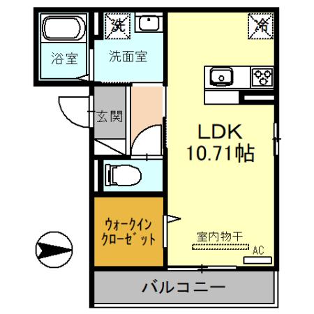 (仮)D-room戸田市新曽・203号室の間取り